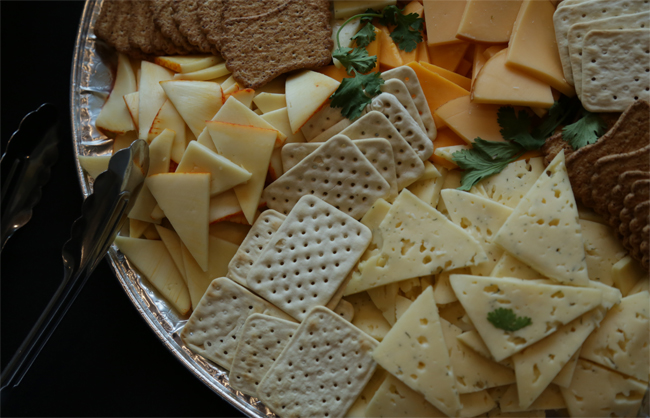 Artisan Cheese and Crackers